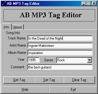 AB MP3 Tag Editor ScreenShot - click to enlarge